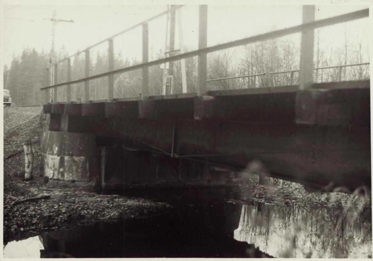 Järnvägsbro över Björnhytteån på linjen mellan Grängesberg och Blötberget.