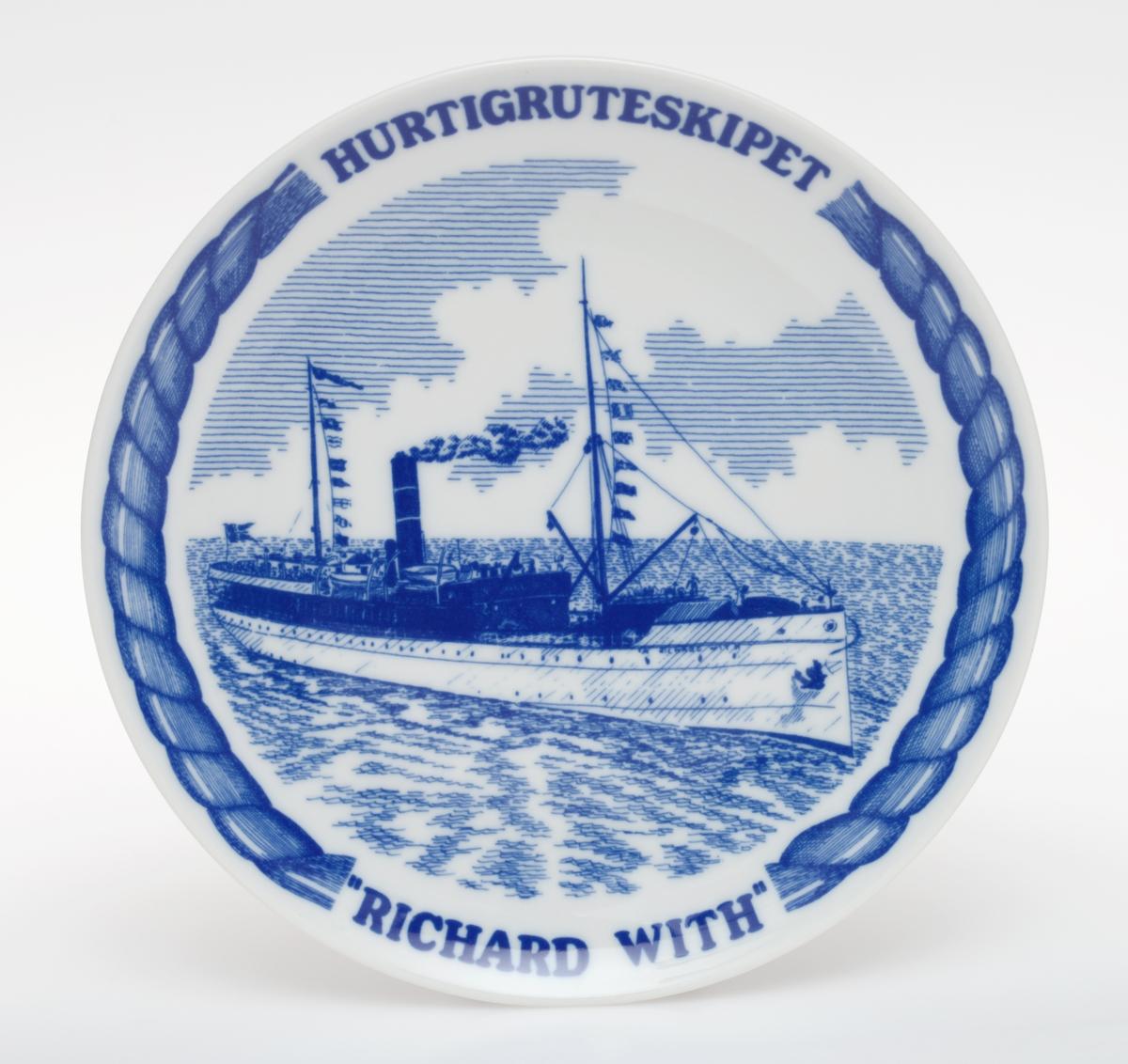 Motiv av Hurtigruten D/S Richard With.