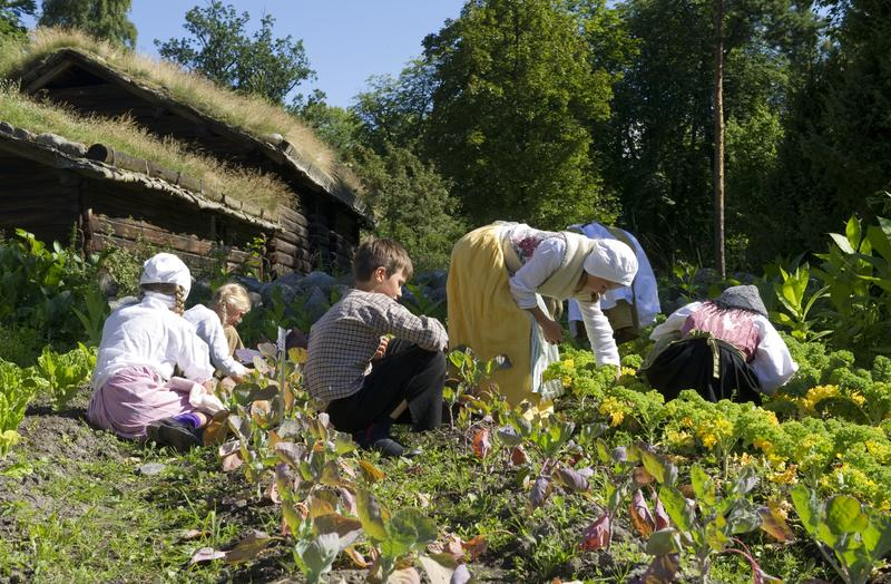Barn på Historisk ferieskole, Norsk Folkemuseum. (Foto/Photo)