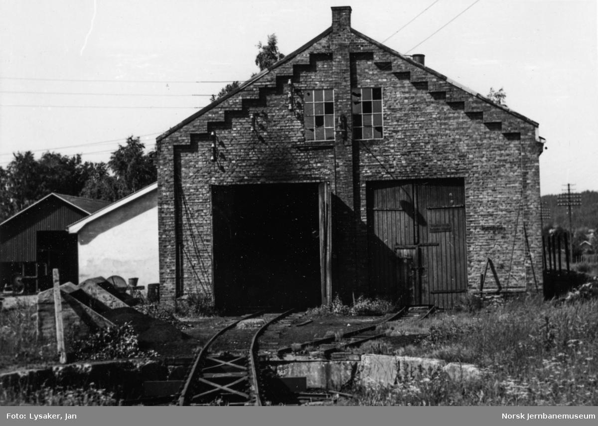 Aurskog-Hølandbanens lokomotivstall på Bjørkelangen