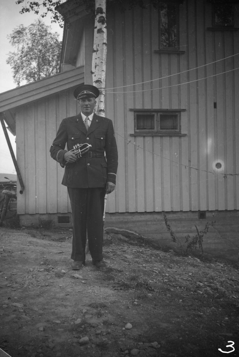 Olav Børresen i musikkorpsuniform