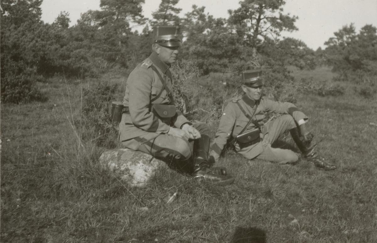 Gotland regementets I 27 officerövning vid Ronehamn.