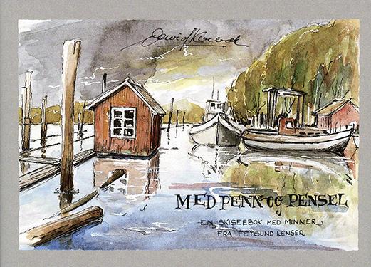 """Forsiden på boken """"Med penn og pensel"""". (Foto/Photo)"""