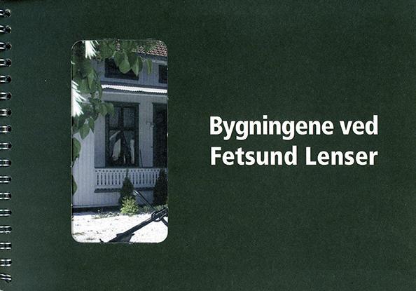 """Forside på boka """"Bygningene ved Fetsund lenser""""."""
