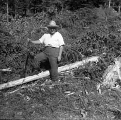 Skogsarbetande fru i Johannisberg, Ljungaverk.