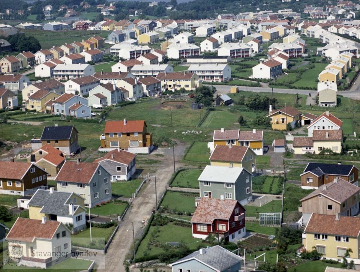 Bebyggelsen ved Åsveien, Tjønnåsveien, Haugåsveien, Svend Foyns gate..I bakgrunnen Bekkefaret