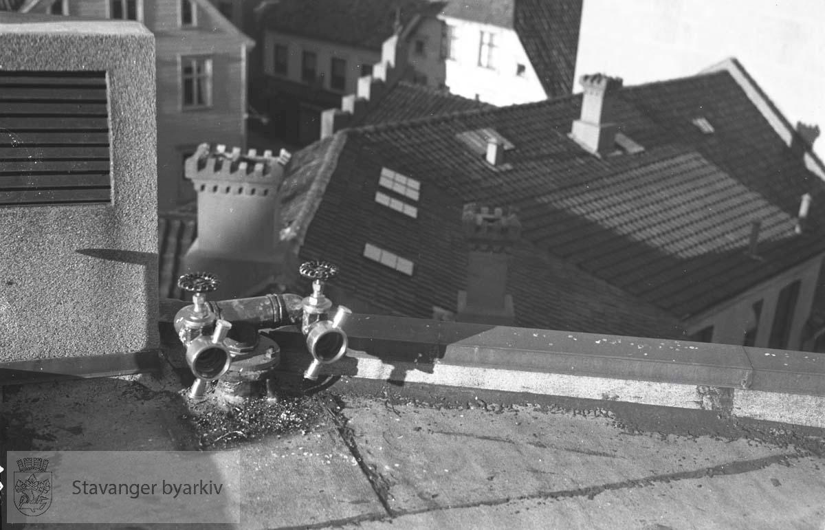 Utsikt over hustak i Stavanger sentrum