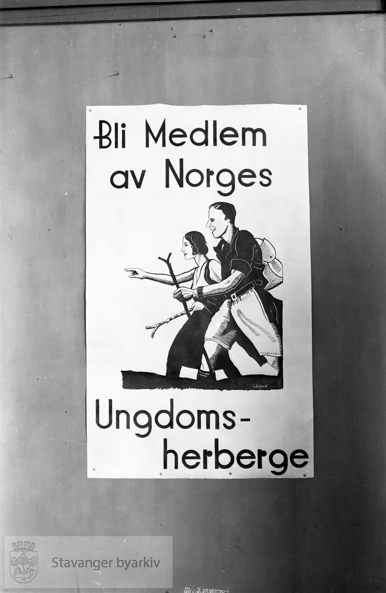 Stavanger Ungdomsherberge, reklameplakat