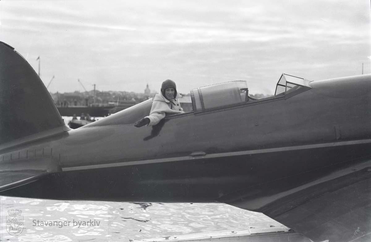 Oberst Charles Augustus Lindbergh.Sjøfly