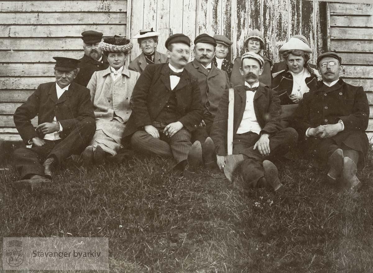 Gruppebilde på Orre, pinsen 1905