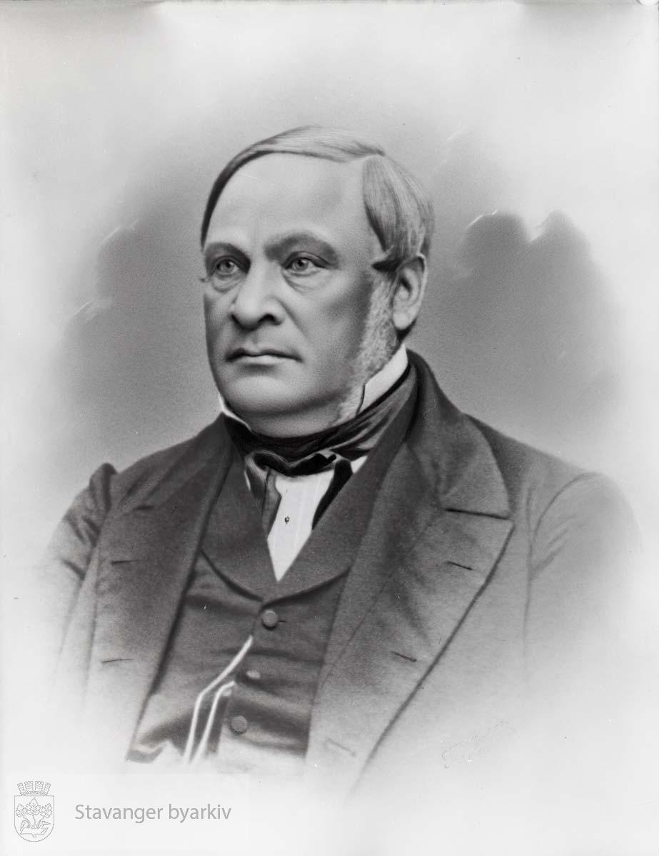 Ordfører i Stavanger i 1846. Født i Kvinesdal. Jurist og Underrettsprokurator i Stavanger 1831-1850. Bodde senere i Molde.