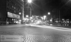 Jernbaneveien by night