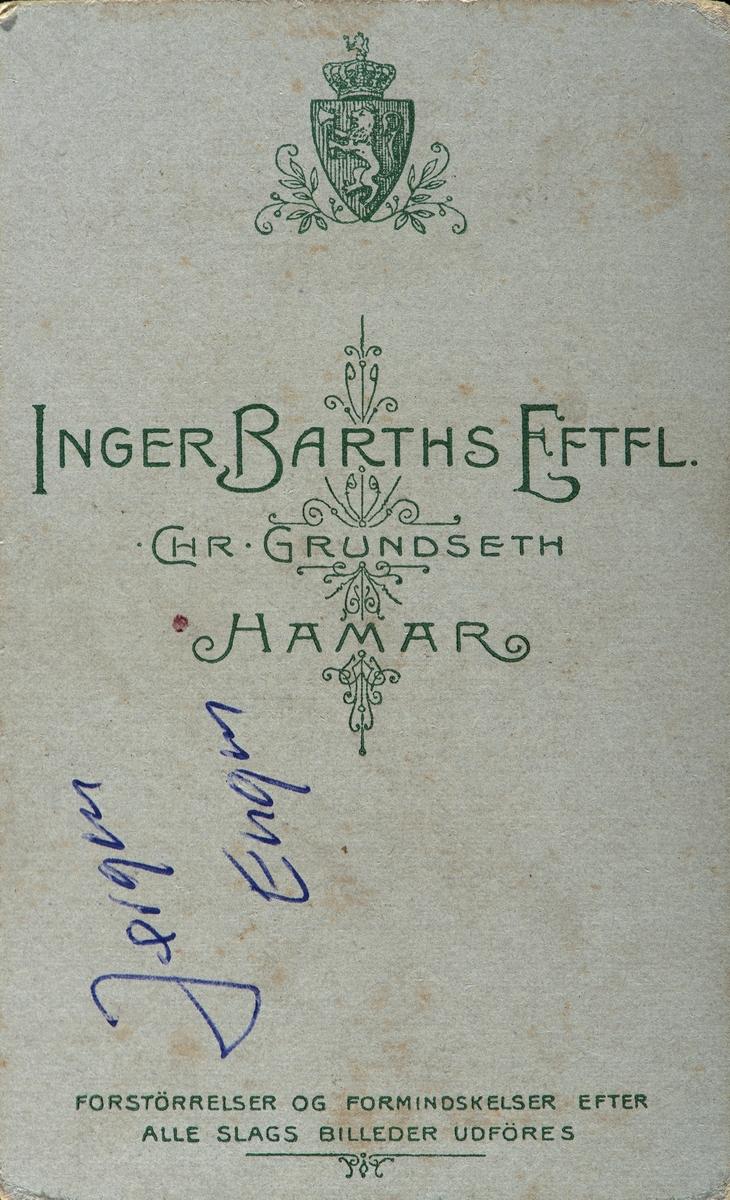 Jørgen Engen 1893-1978. Konfirmant, portrett.