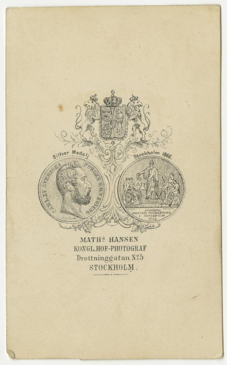 Porträtt av Per Gustaf Wilhelm Lindbaeck, underlöjtnant vid Västmanlands regemente I 18.
