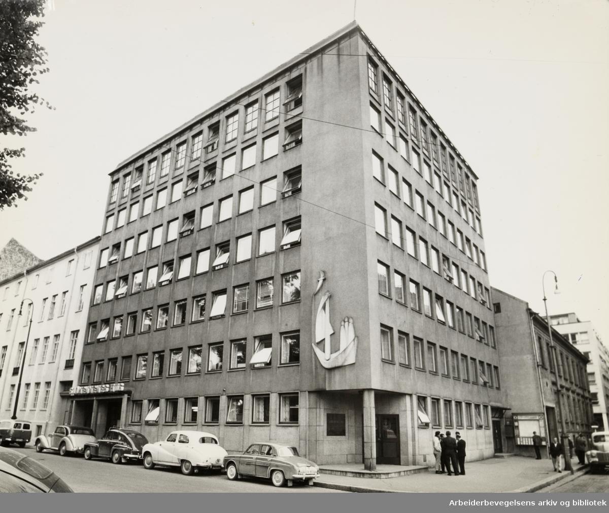 Grev Wedels plass 7. Norsk Sjømannsforbund. 20. september 1960