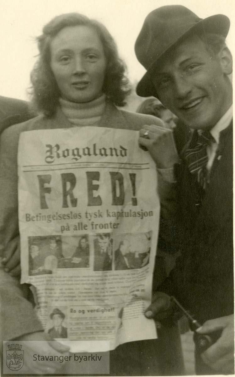 Fra frigjøringsdagene .Frigjøringen.Fredsdagene 1945