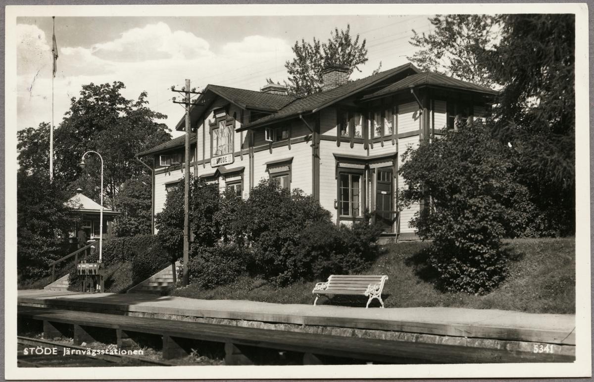 Järnvägsstationen i Stöde.