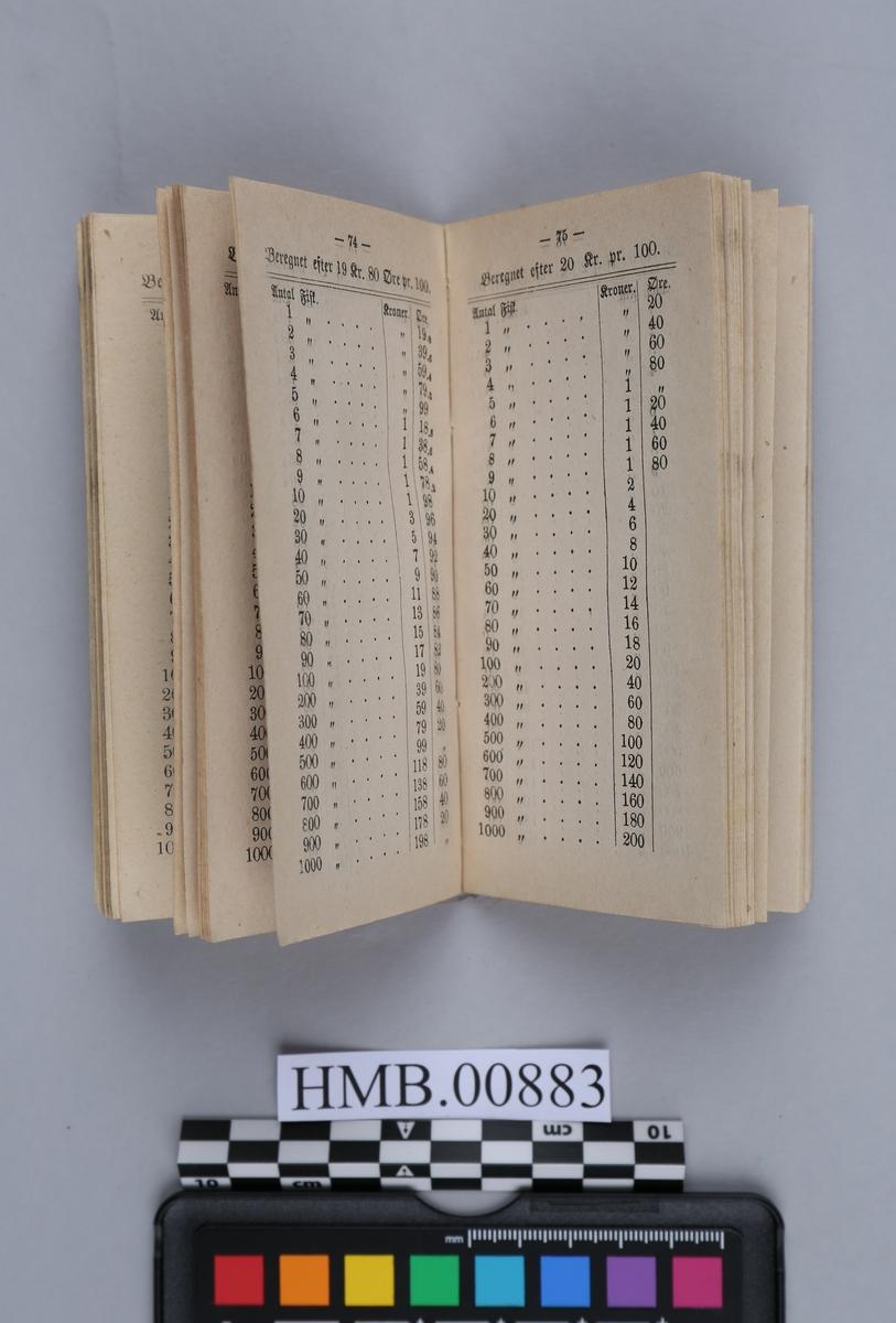 Innbundet bok med stive permer.