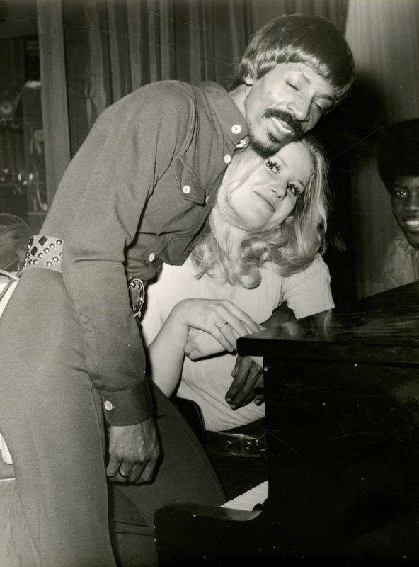 Med Ike Turner, på Palais d'Hiver. Foto: Privat.