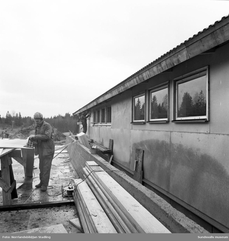 Ladugårdsbygge på Alnö.