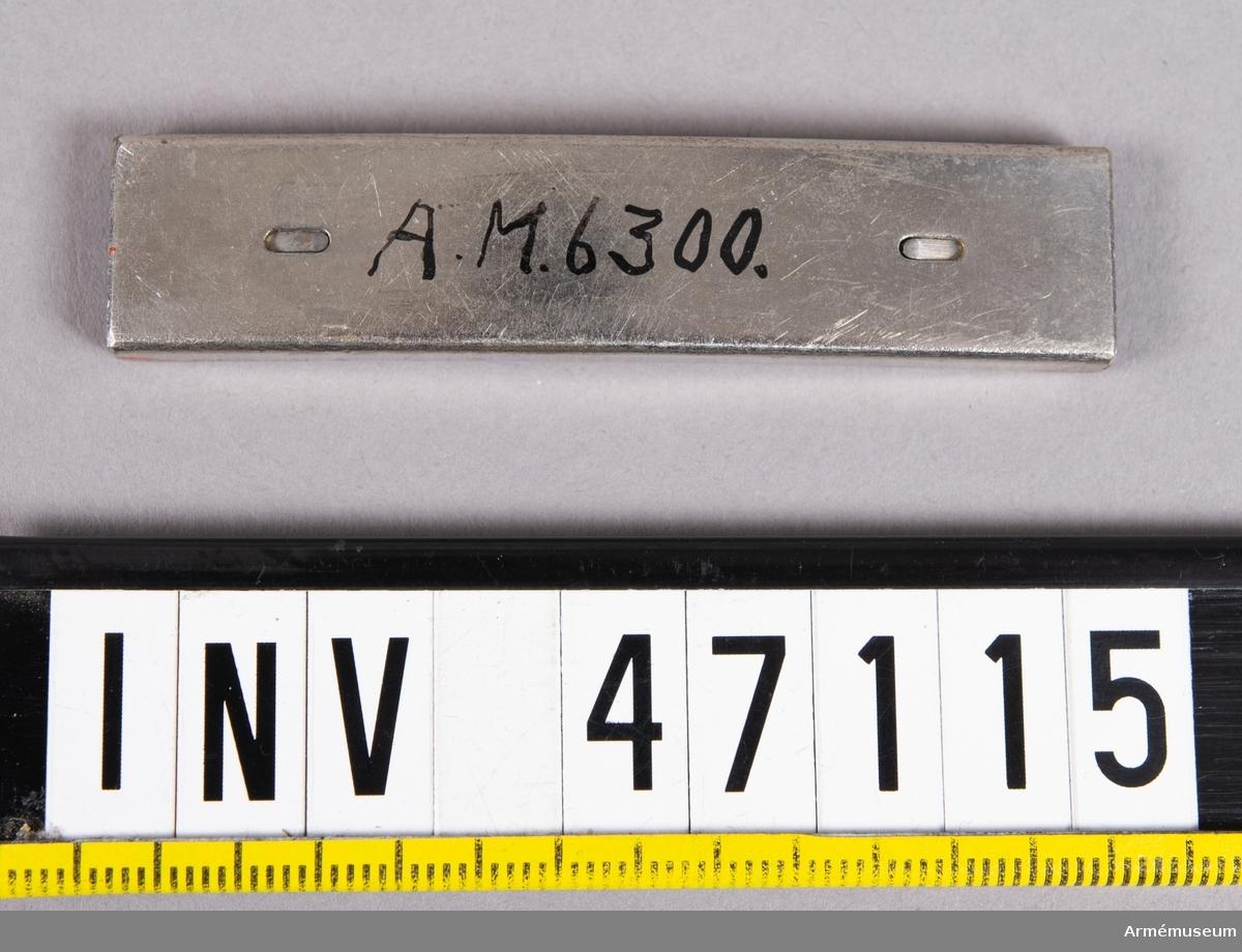Grupp E V. Laddram. Till 6,5 mm gevär av Mausers konstruktion fm/1892.