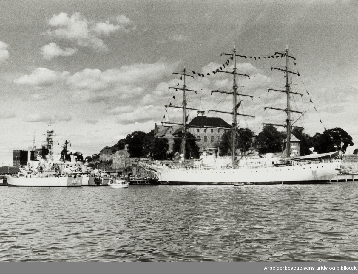 Havna. Akershuskaia. August 1976