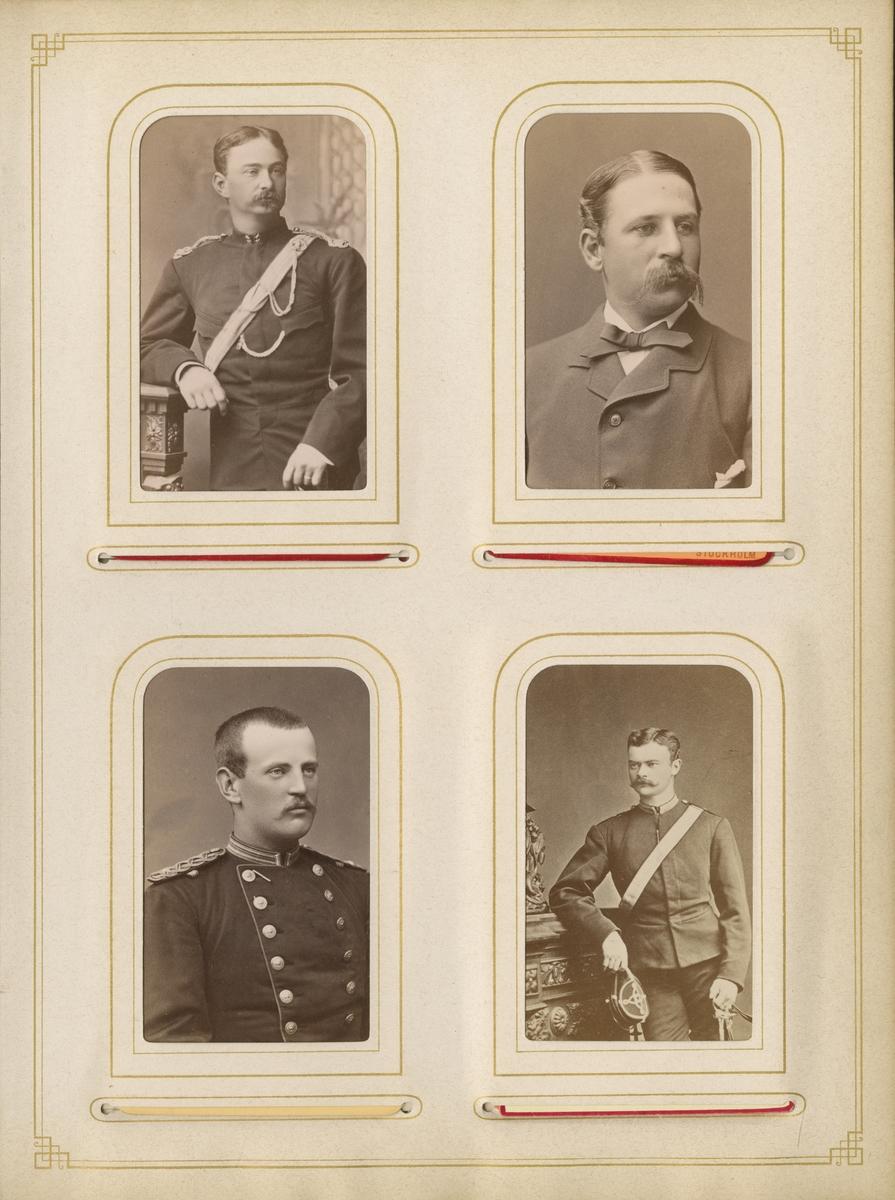 Porträtt av Fritz Joachim Carl Ludvig von Ekensteen, löjtnant vid Skånska dragonregementet K 6.
