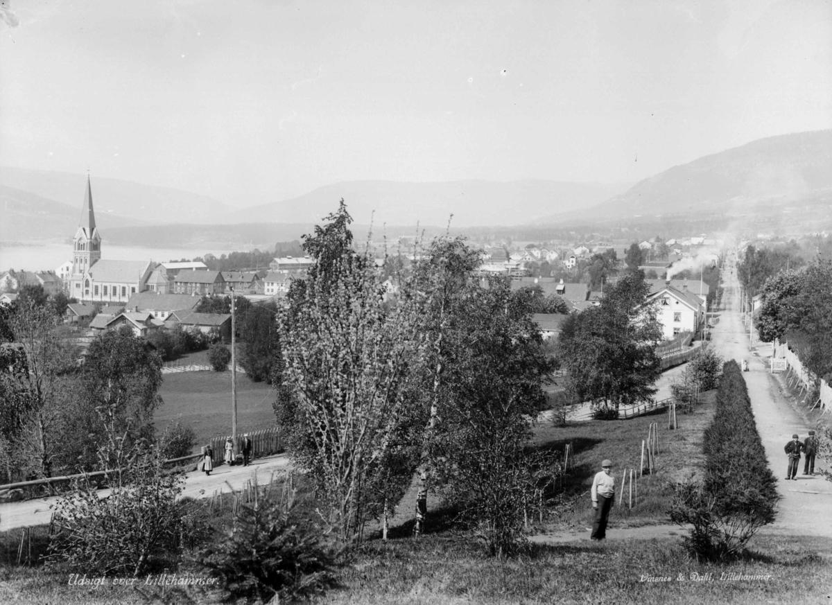 Utsikt over Lillehammer, sett fra Utsiktsbakken