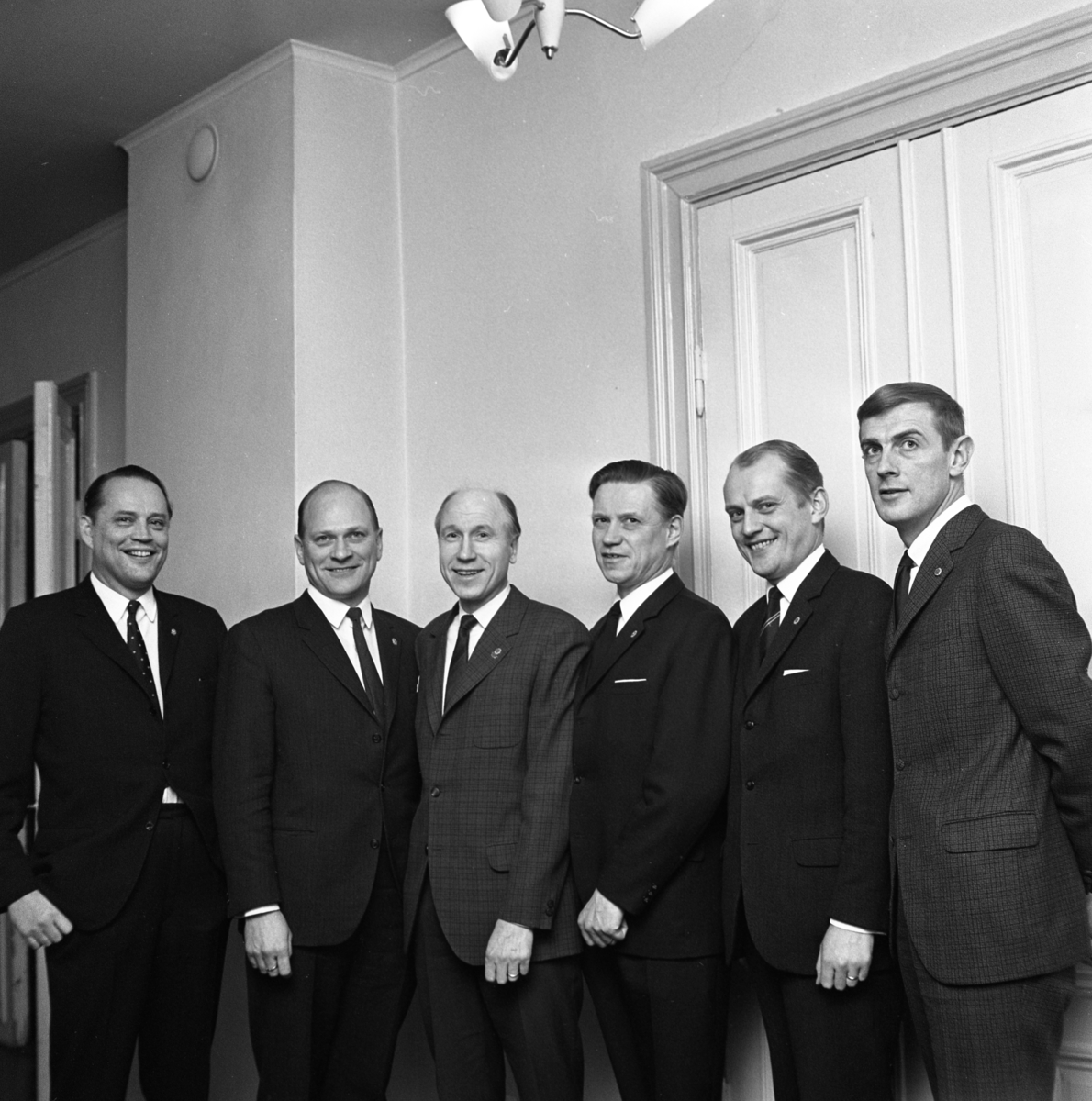 Lions Club Från vänster: Stjernström, Lars David Hamrelius, Lars Erjö, Wallström, Munkberg, Ingvar Lindgren
