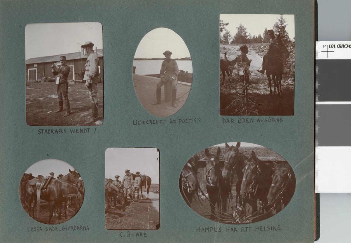 Soldater vid bondgård.