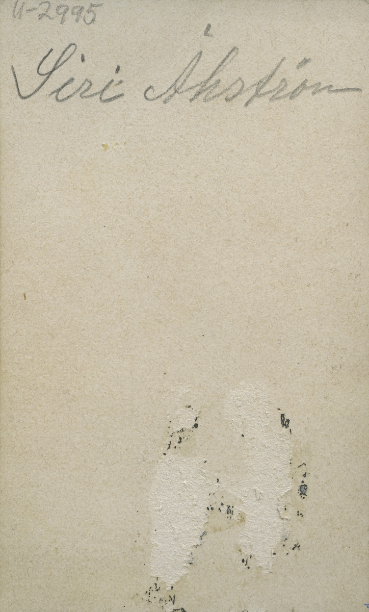 Siri Åhström. f. Everlöf 1864.