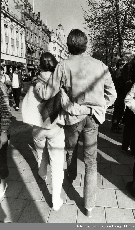 Karl Johans gate. Mai 1983