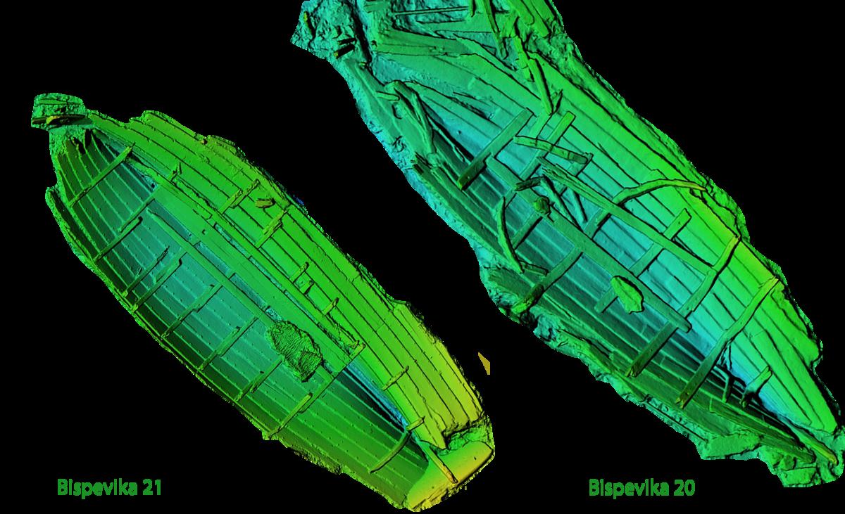 3D models of the two shipwrecks (Foto/Photo)