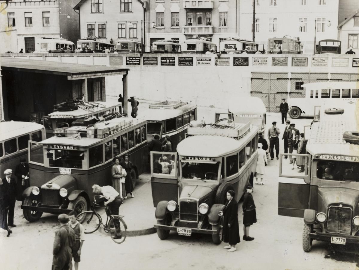 Centralholdeplassen 1934.