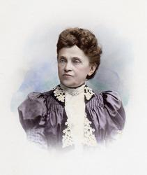 Kolorerat porträtt på Maria Karolina Wessén (ogift Åström),