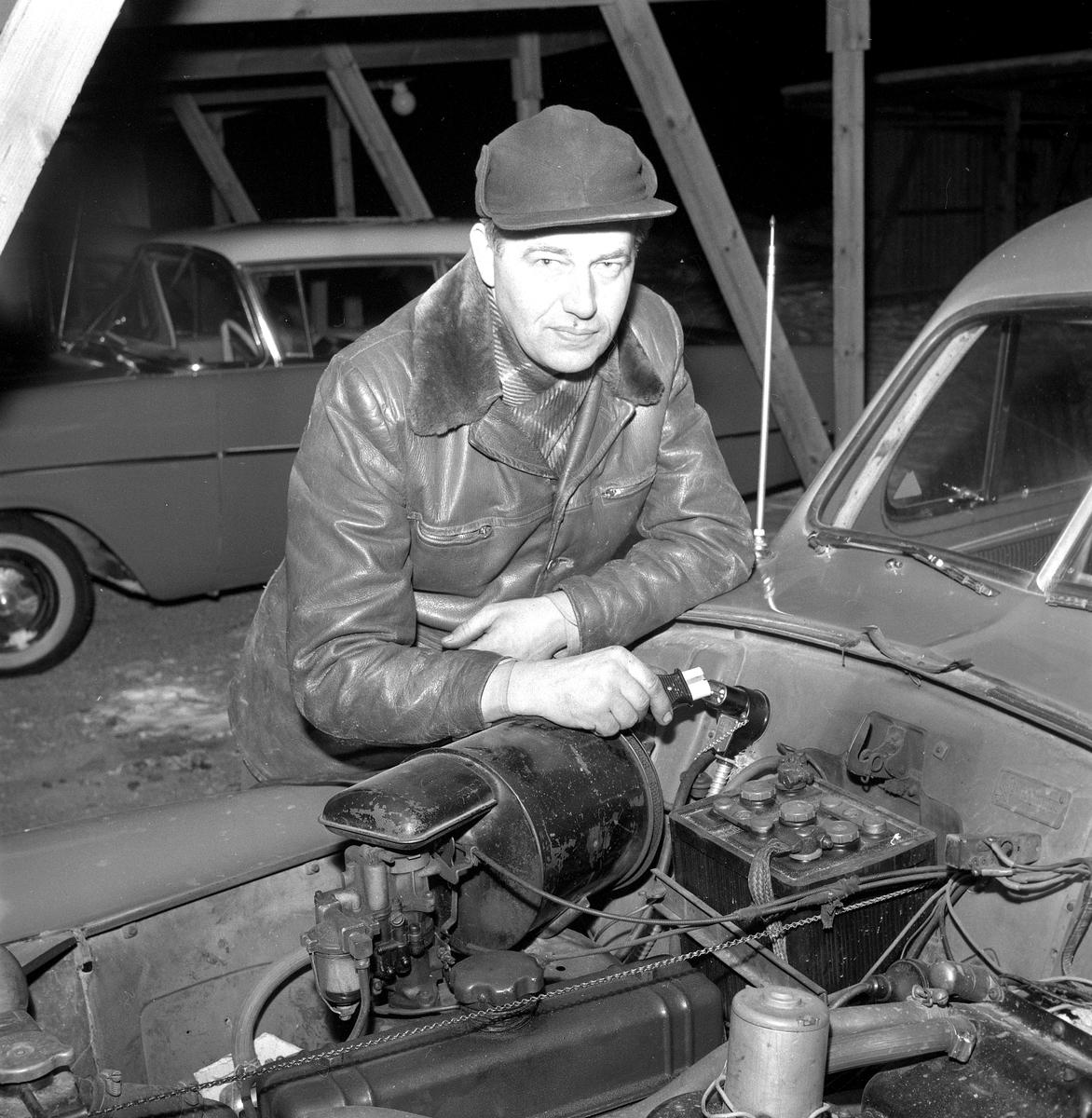 Garage i Rosta. 15 januari 1959.