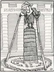Karikatur av Henrik Ibsen [tusjtegning]