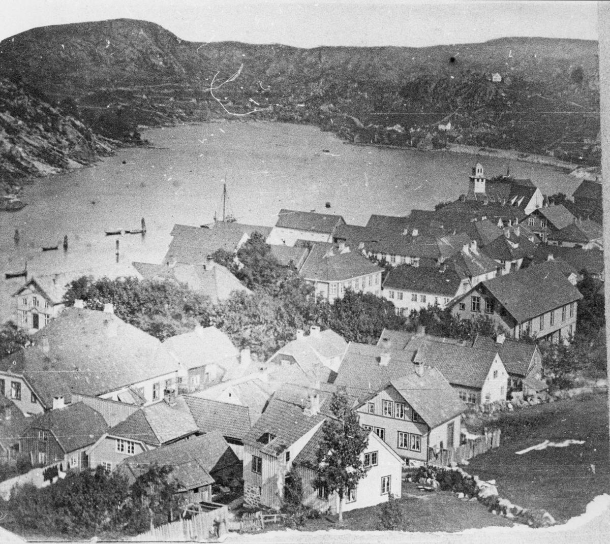 Utsikt over Egersund fra Varberg