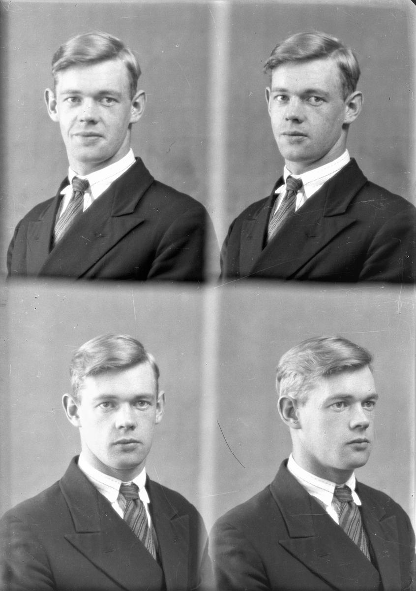 Portrett. Ung mann. Bestilt av Hr. Sverre Pedersen (Wrangel).