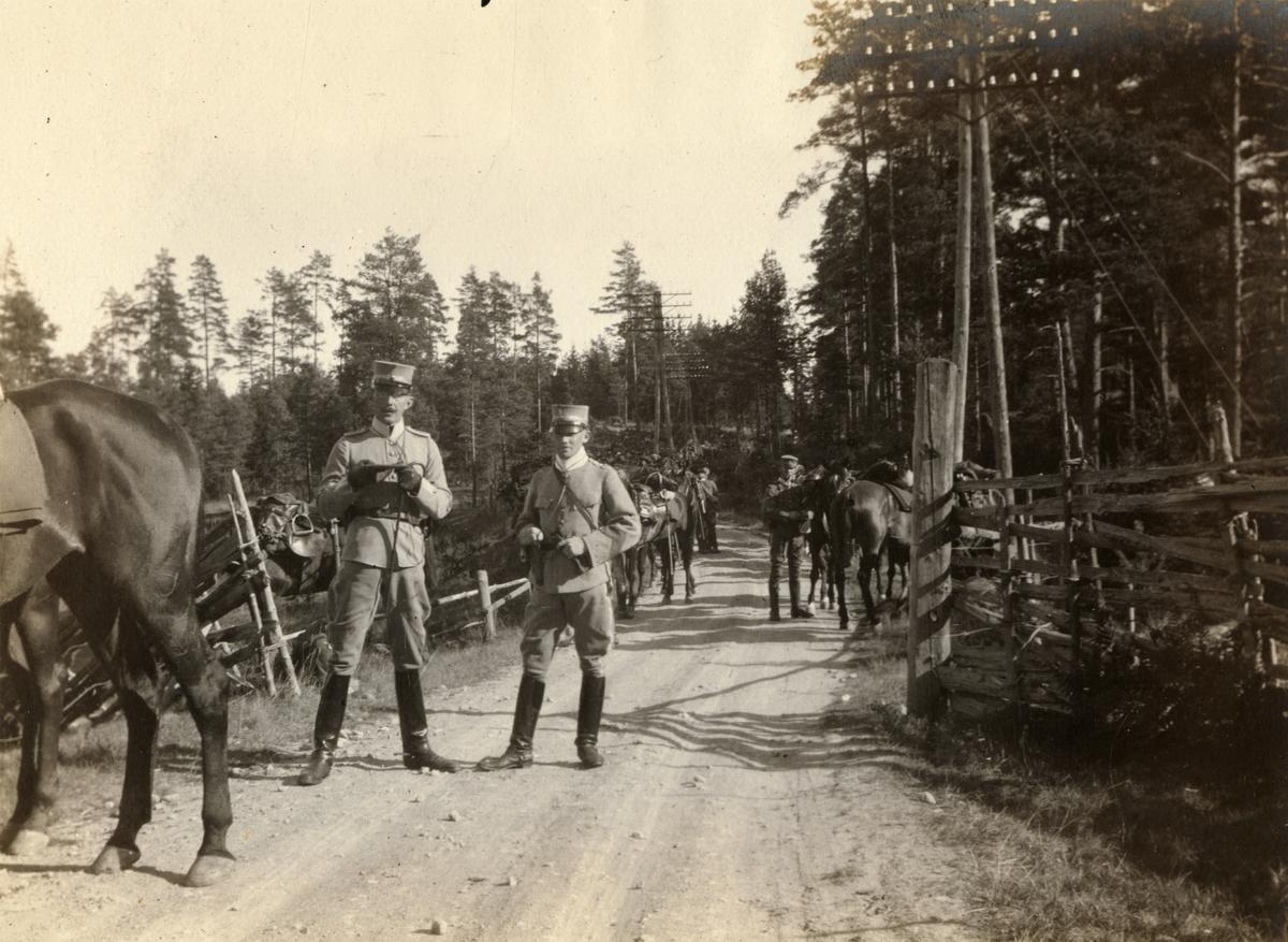 Enköpingsmanövern 1914.