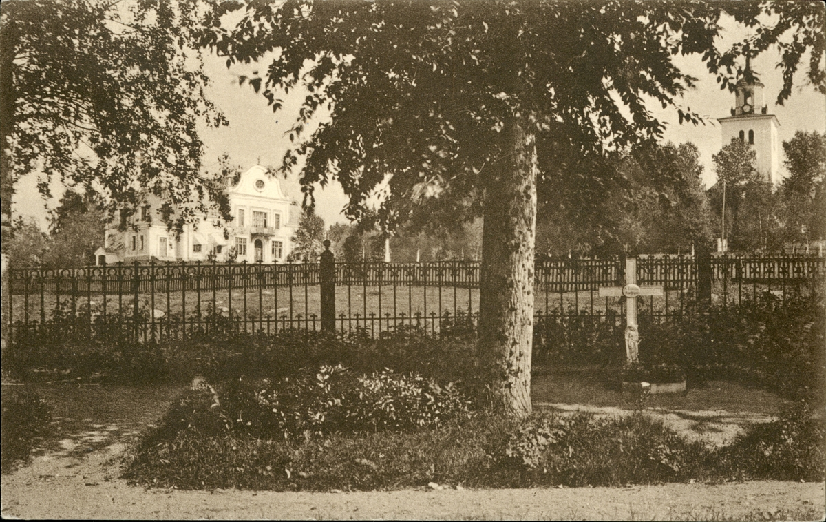 Vykort med motiv över Sköns prästgård.
