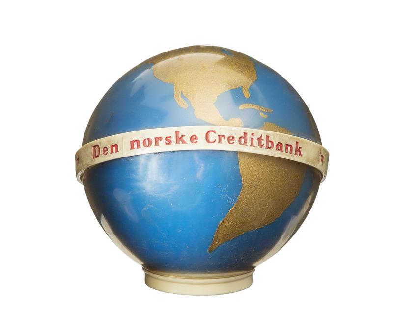 Sparebøsse fra Den norske Creditbank.. Foto/Photo