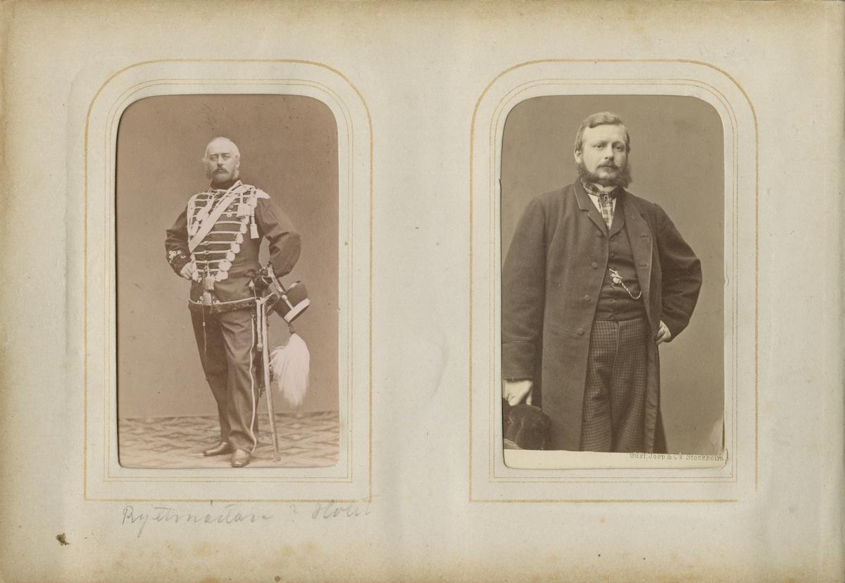 Porträtt av Carl Johan Reinhold Uggla, kapten vid Värmlands regemente I 22.