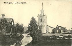 Vykort med motiv av Kyrkan i Liden.