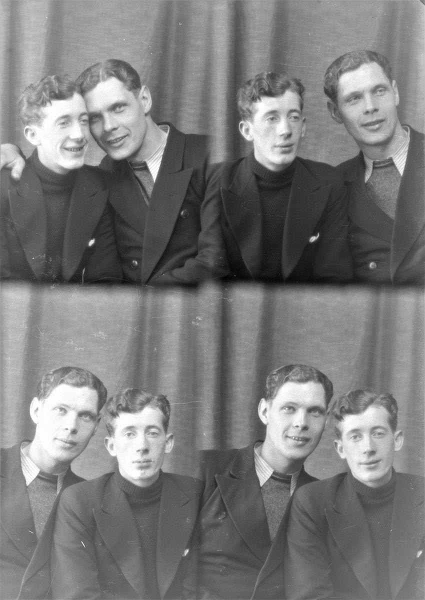 Portrett. To unge menn. Bestilt av Hr. H. Karlsen