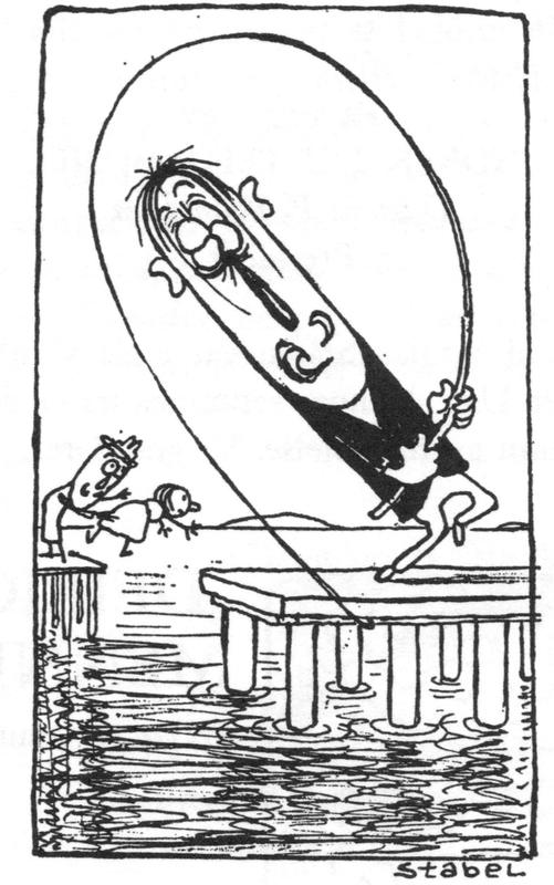 Fredrik Stabel tegner fra Lehmannsbrygga