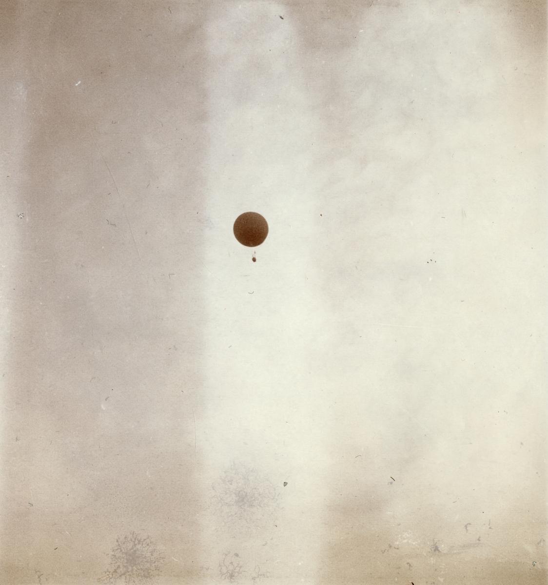 Luftballongen Andrée i luften.