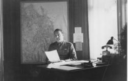Stabchef ryttmästare Vogel, Norrtälje. Kartan visar huvuddel