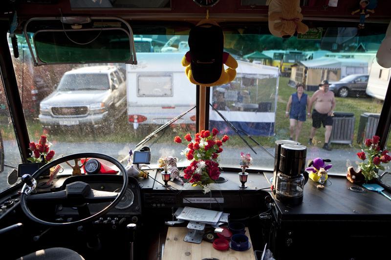 Danseband caravan interior, Seljord 2009