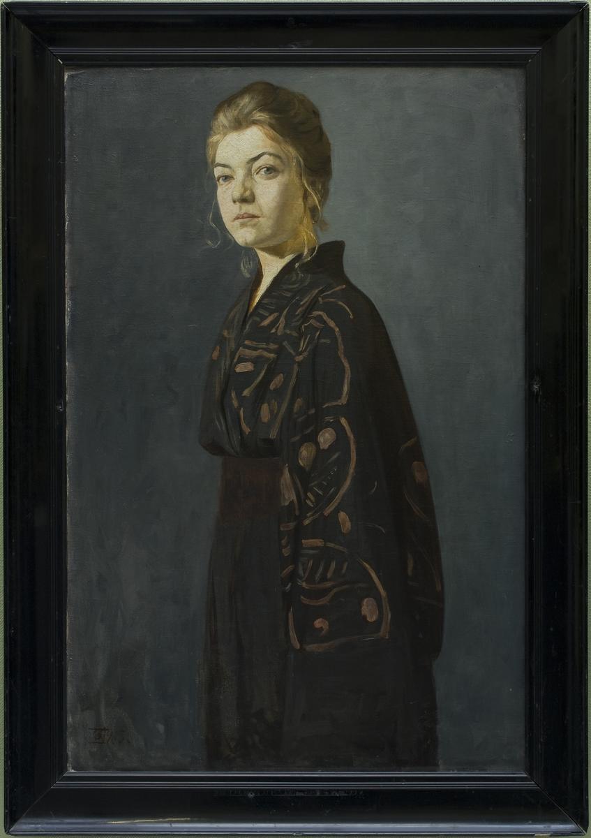 Gabriel Kielland,  Portrett av fru E.T, 1905.